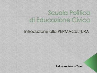 Scuola Politica di Educazione Civica
