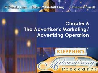 Chapter 6  The Advertiser s Marketing