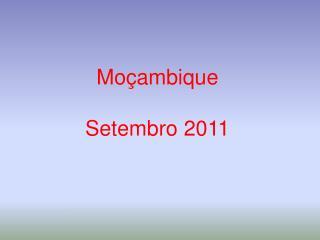Mo ambique   Setembro 2011