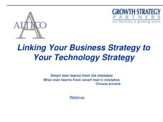 Linking Your Business Strategy to Your Technology Strategy
