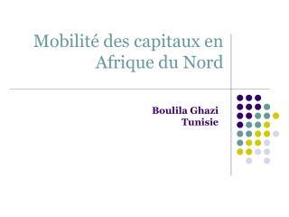 Mobilit  des capitaux en Afrique du Nord