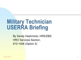 Military Technician USERRA Briefing