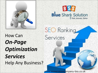 How can on page optimization services help any business?