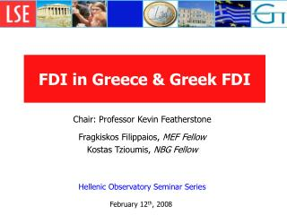 FDI in Greece  Greek FDI