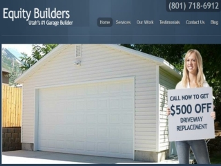 New and Custom Garages Builders Company in Utah.