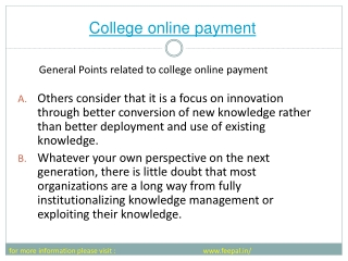 View of  college online payment