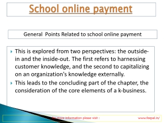 Participants in school Online payment