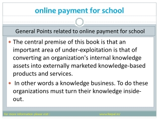 Basic instruction of  online payment for school