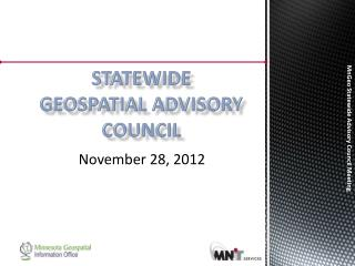 Statewide Geospatial Advisory council