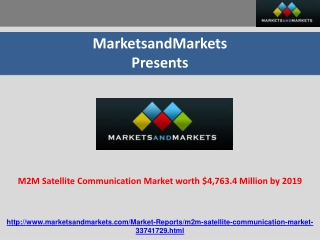 M2M Satellite Communication Market