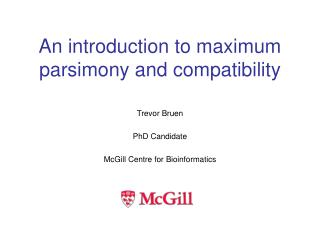 an introduction to maximum parsimony and compatibility