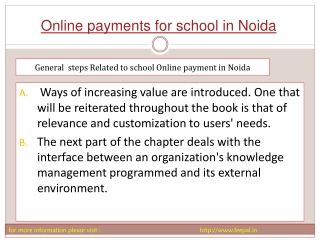 New search about online paymnet for school in Noida
