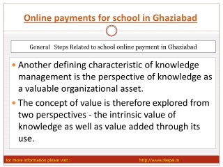 Local news about online paymnet for school in Ghaziabad