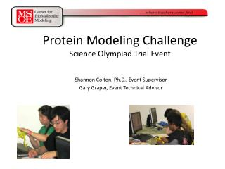 Protein Modeling Challenge Science Olympiad Trial Event