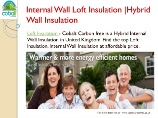 High Class Internal Wall Insulation Service in UK