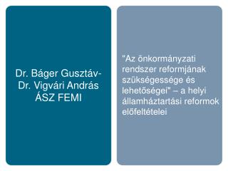 Dr. B ger Guszt v- Dr. Vigv ri Andr s  SZ FEMI
