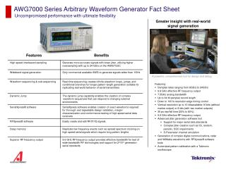 AWG7000 Series Arbitrary Waveform Generator Fact Sheet