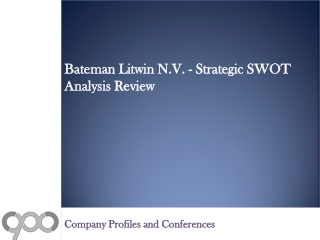 Bateman Litwin N.V. - Strategic SWOT Analysis Review