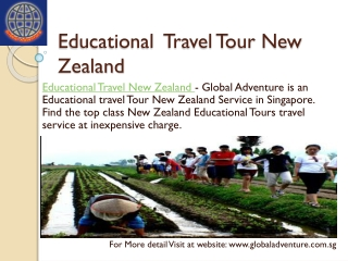 Educational Travel  Tour New Zealand  Service in Singapore