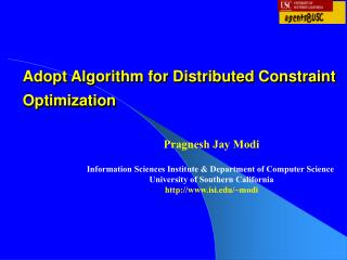 Adopt Algorithm for Distributed Constraint Optimization