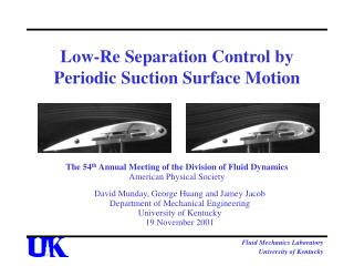 Low-Re Separation Control by Periodic Suction Surface Motion