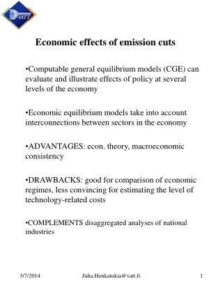 Economic effect of emission cuts