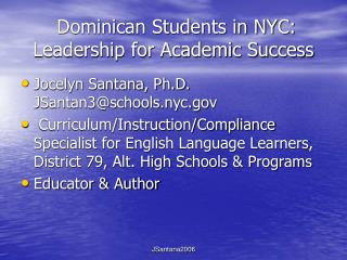 dominican students in nyc: leadership for academic success