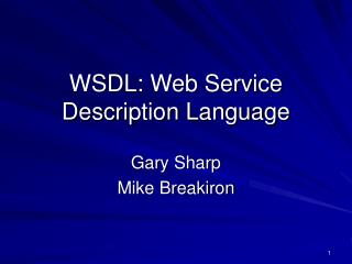 wsdl: web service description language