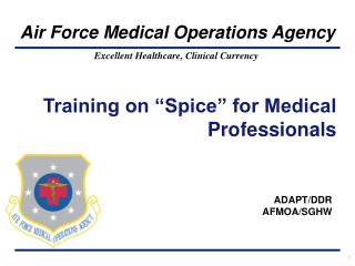 Training on  Spice  for Medical Professionals