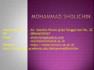 MOHAMMAD SHOLICHIN
