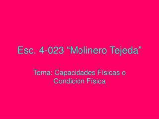 Esc. 4-023  Molinero Tejeda
