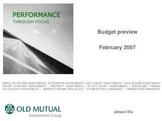 Budget preview February 2007