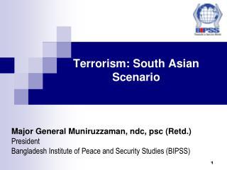 terrorism: south asian scenario