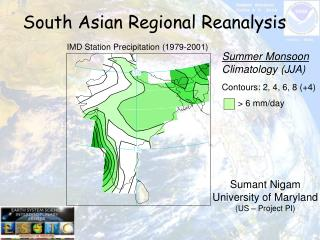 South Asian Regional Reanalysis