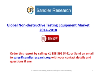 2018 Global Non-destructive Testing Equipment Industry Analy