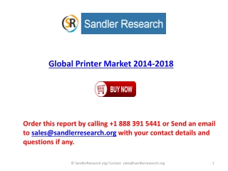 2018 Printer Industry Analysis in Research Report