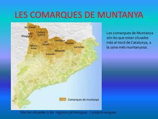 LES COMARQUES DE MUNTANYA