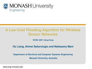 A Low-Cost Flooding Algorithm for Wireless Sensor Networks