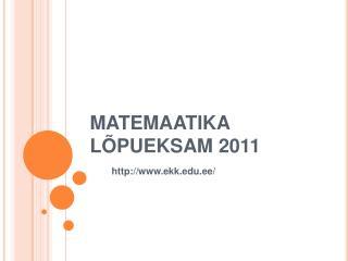 MATEMAATIKA L PUEKSAM 2011