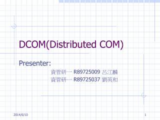 DCOMDistributed COM