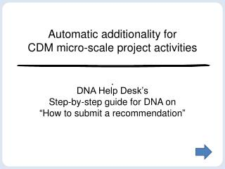 Automatic additionality for  CDM micro-scale project activities