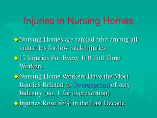 injuries in nursing homes