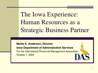 The Iowa Experience: Human Resources as a Strategic Business Partner