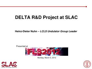 DELTA RD Project at SLAC