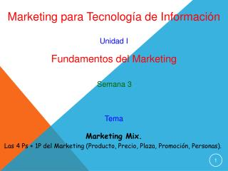 Marketing para Tecnolog a de Informaci n