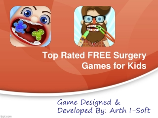 Top Rated FREE Surgery Games for Kids