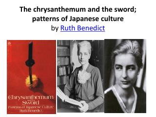 the chrysanthemum and the sword; patterns of japanese culture by ruth benedict