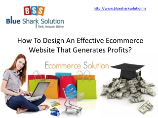 effective Ecommerce website that generates profits