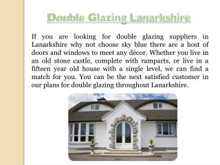 Double Glazing Prices Lanarkshire