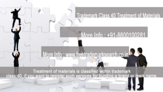 Trademark Class 40 | Treatment of Materials